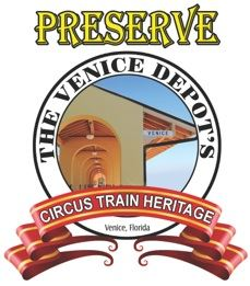 Preserve the Venice Depot's Circus Train Car Logo